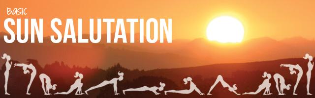 Basic sun salutation