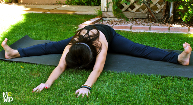 Yoga RX: Wide Angle Seated Forward Bend (Upavistha Konasana)
