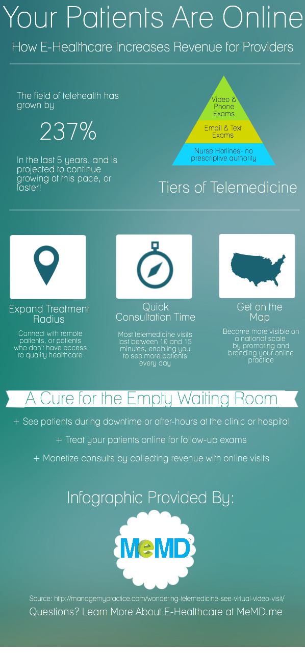 How E-Healthcare Can Increase Your Revenue (Infographic)
