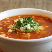 Chili spiced chicken soup