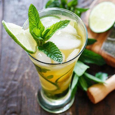 Green Tea Mojitos | 100 Calories